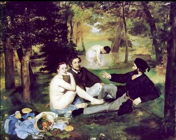 Le Dejeuner sur I'herbe \ Kırda Öğle Yemeği - Edouard Manet