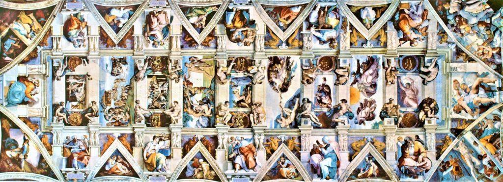 Sistina Şapeli - Michelangelo-Michelangelo ve Raffaello'nun Garip Hikayesi ( 2 )