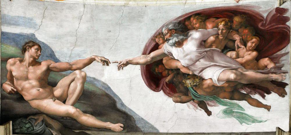 Yaratılış Tasviri - Sistina Şapeli Tavan-Michelangelo ve Raffaello'nun Garip Hikayesi ( 2 )