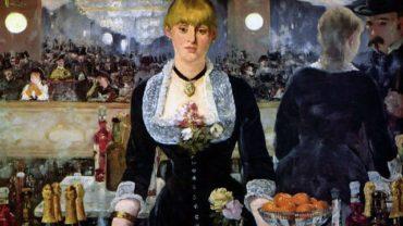 Edouard Manet - A Bar at Folies-Bergere / Folies-Bergere' de Bir Bar