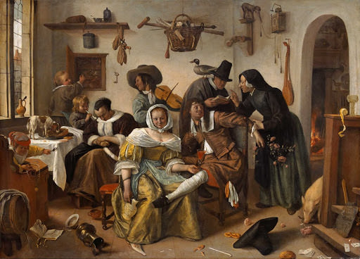 Jan Steen - Beware of Luxury - Sanat Tarihinde Semboller ve Alegoriler