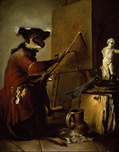 The Monkey Painter - Chardin - Sanat Tarihinde Semboller ve Alegoriler
