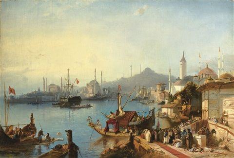 Jacob Jacobs - Sultan Abdülmecit'in Nusretiye Cami'ine Varışı / Oryantalist Ressamlar