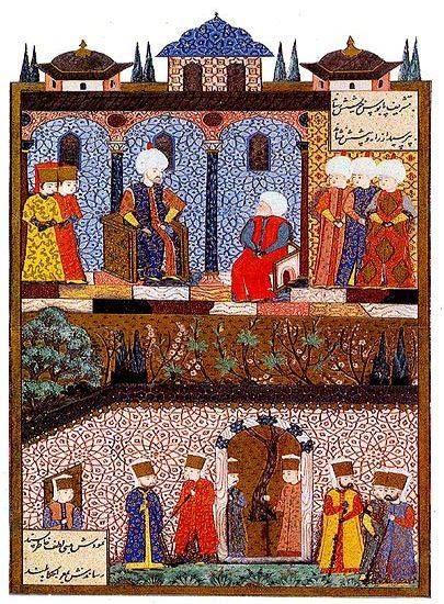 Süleymanname (Barbaros'un Kanuni'yi Ziyaretiin Tasviri Eden Minyatür)