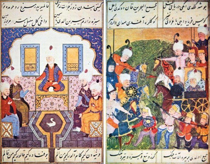 Şükr-i Bitlis-i (Kürt Şükrü Bey) Selimname 'den Bir Minyatür Örneği / Minyatür Sanatı