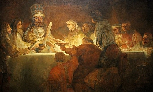 Rembrandt - The Conspiracy of Claudius Civilis / Claudius Civilis Yönetiminde Batavyalılar
