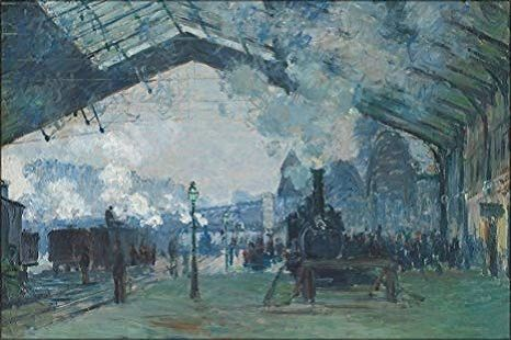 The Gare Saint Lazare, 1877 by Claude Monet