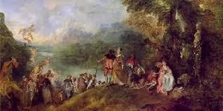 Antoine Watteau - Pilgrimage on the Isle of Cythera ( Çuha Adasına Yolculuk) / Sanat Akımları - Rokoko Sanatı
