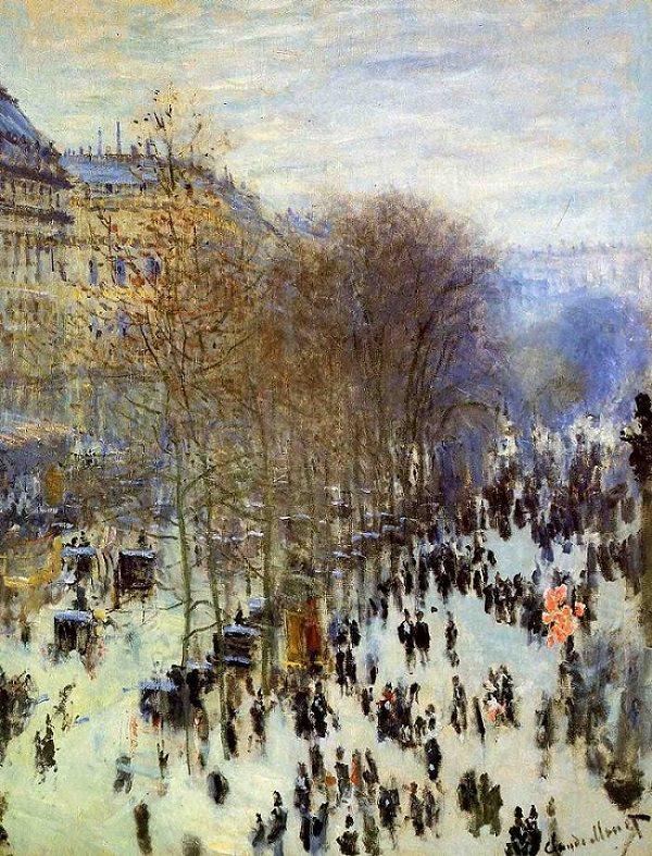 Claude Monet Kimdir? | Hayatı | Eserleri | Fransız Empresyonist Ressam - Boulevard des Capucines