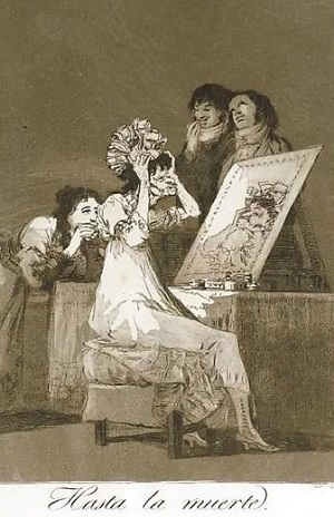 Francisco Goya -Los Caprichos Gravür Serisinden Bir Örnek
