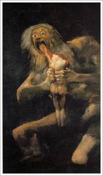 Francisco Goya -Satürn Oğlunu Yerken