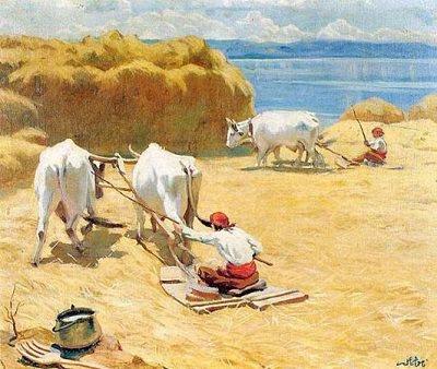 Namık İsmail - Harman -1923 / Türk Resim Sanatı - 1914 Çallı Kuşağı