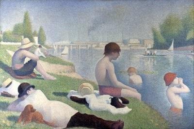 Georges Seurat - Bathers at Asnières (Asnieres'de Yıkananlar) | Görülmesi Gereken 6 Olağanüstü Tablo