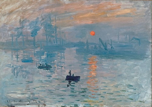 Claude Monet - Impression Sunrise |  İzlenim : Gündoğumu