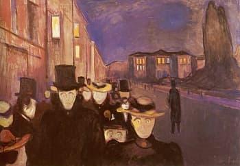 Karl-Johan'da Akşam - Edvard-Munch