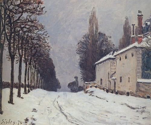 Karlı Yol - Alfred Sisley