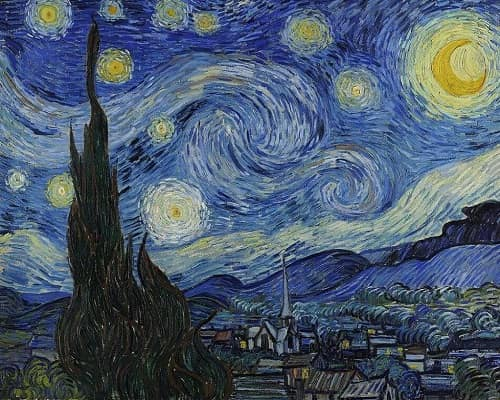 The life of Vincent van Gogh and paintings
